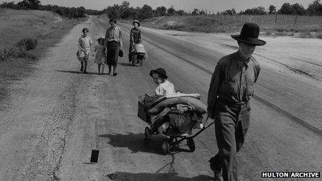 Drought refugees in the Great Depression
