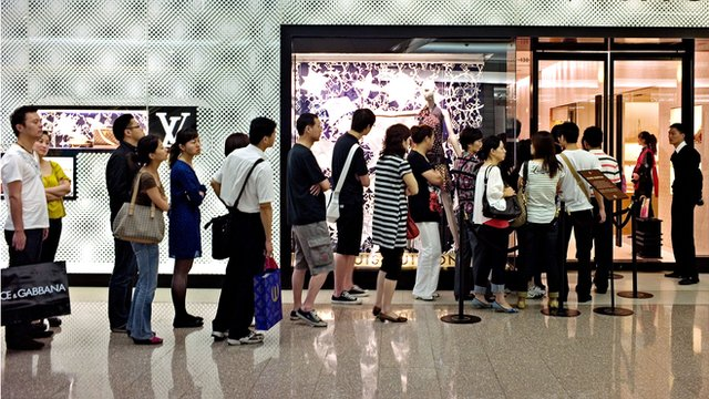 Shoppers in Shanghai