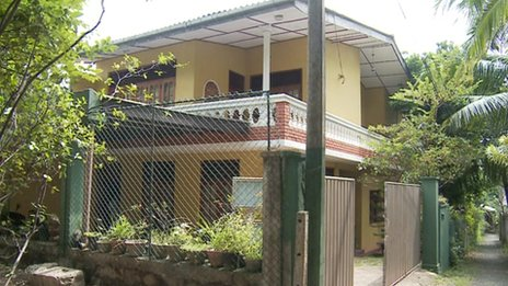 The Peiris family home in Colombo