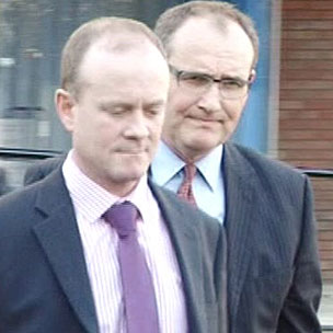 Mike Baillon (left) with his solicitor Nick Smith