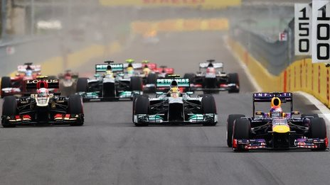 Cars in the 2013 Korean Grand Prix