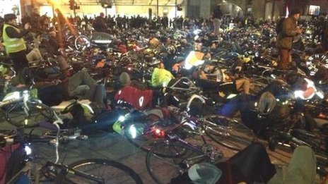 Cycling 'die-in'