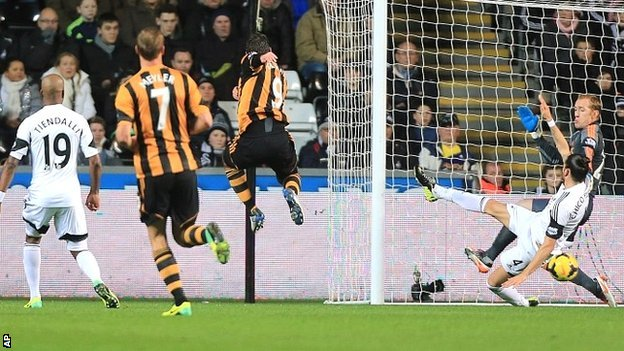 Swansea City 1-1 Hull City...