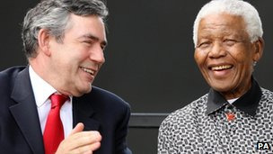 Gordon Brown and Nelson Mandela
