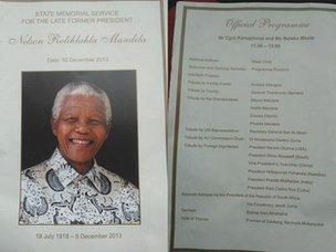 Mandela memorial programme