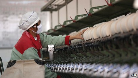 A worker in  Chinese factory