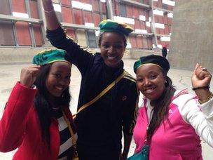 Spectators at Soweto stadium
