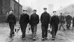 Bevin boys at the Prince of Wales colliery during World War 2