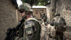 French troops near the airport of Bangui. 9 Dec 2013