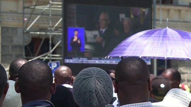 Big screen in Cape Town