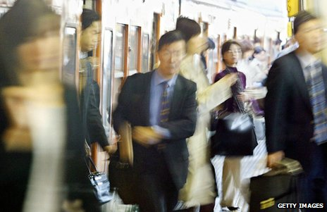 Japanese commuters