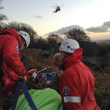 Stanage Edge rescue