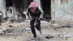 Free Syrian Army fighter in Aleppo (03/12/13)
