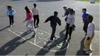 Hopscotch in playground
