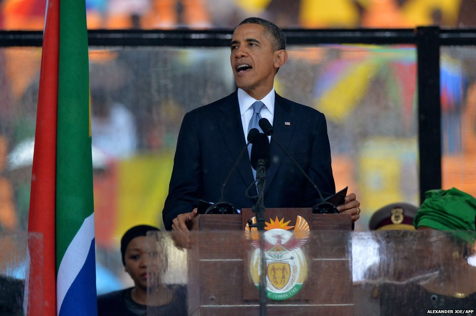 US President Barack Obama delivers a speech