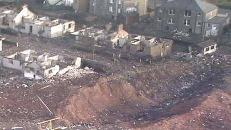 The wreckage caused devastation in the town of Lockerbie