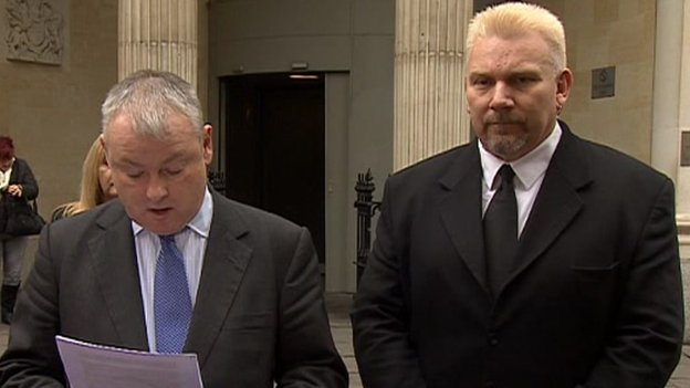 Geoffrey Counsell (on the right) with his solicitor, Gavin Reese