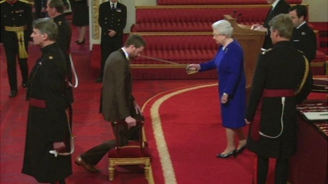 Bradley Wiggins and the Queen