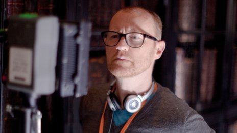 Mark Gatiss on set of The Tractate Middoth