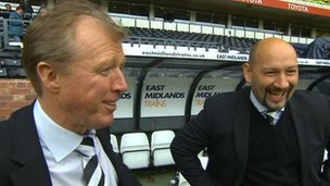 Derby County manager Steve McClaren (left) and chief executive Sam Rush