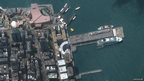 A picture of a giant rubber duck in Hong Kong