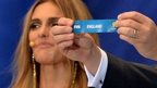 Fifa Secretary General Jerome Valcke holds up England's name in the 2014 World Cup final draw in Brazil on December 6, 2013.