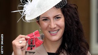 Sarah Stevenson received an MBE for services to Martial Arts in 2012.