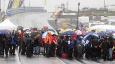 Rain pours down at the NW200 grid this year