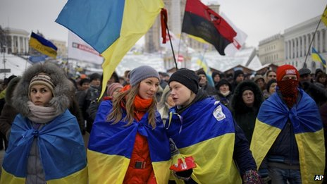 Protesters on Kiev's Independence Square - the Maidan. Photo: 10 December 2013