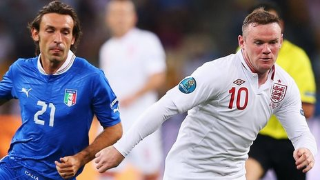 Pirlo and Rooney