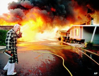 Northridge quake fire