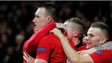 Manchester United's Phil Jones (left) celebrates scoring