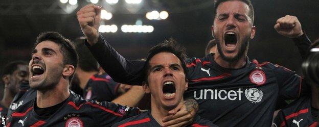 Olympiakos beat Anderlecht