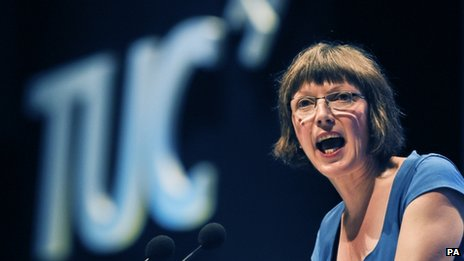 Frances O'Grady making a speech