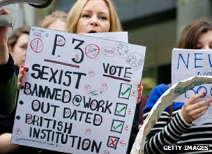 Feminist campaigners outside News International's offices in 2012