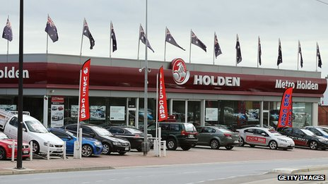 Holden showroom in Australia