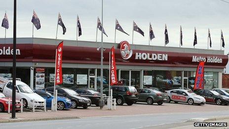 Holden showroom in Australia