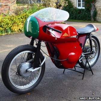 cotton motorcycle presented to gloucester folk museum