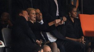 David Cameron, Helle Thorning Schmidt  and Barack Obama