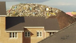 Huge pile of rubbish which towers over homes in Brierley Hill
