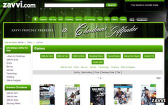 Zavvi website