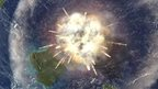 Artist's impression of Chicxulub impact