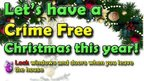 Appeal poster for 'crime free Christmas'