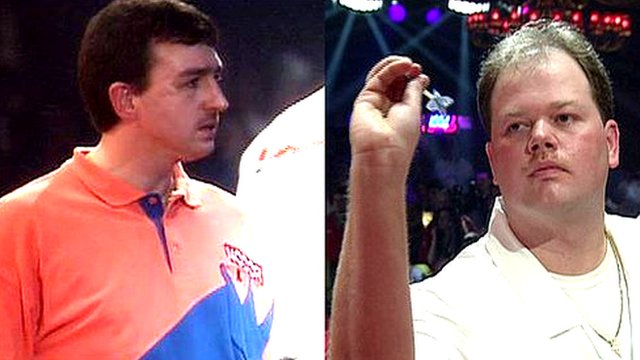 Richie Burnett and Raymond van Barneveld, BDO World Darts Championship final 1998