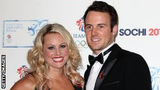 Chemmy Alcott and Dougie Crawford attend the British Olympic Ball at The Dorchester on October 30, 2013 in London.