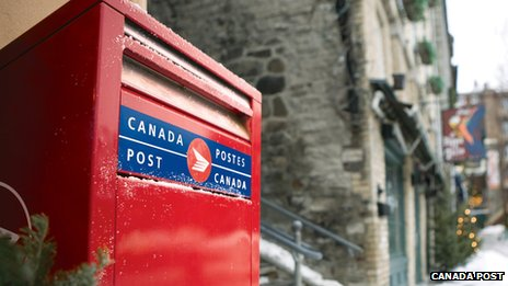 Canada Post box in Quebec