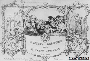 John Callcott Horsley's Christmas card
