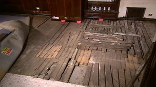 Floorboards at Wedgwood Big House
