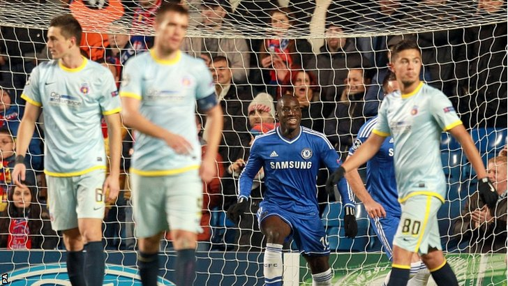 Chelsea took an early lead against Steaua Bucharest