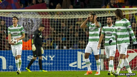This is now a record European defeat for Celtic...